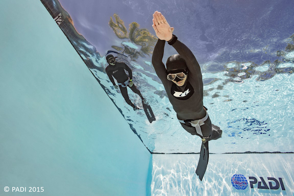 PADI freediver pool